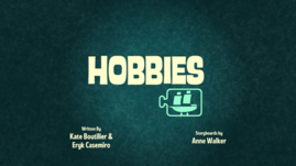 Hobbies Title Card