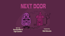 Next Door Title Card