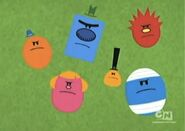 Mr men show angry heads