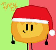 Firey Christmas Icon