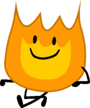 Firey bfb sitting pose