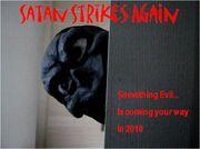 Satan Strikes Again Poster Sep;tember 2010