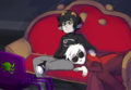 Dave and Karkat watching movie.png