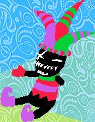 Chucklevoodoo harlequin doll