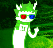Erisolsprite flipping the bird