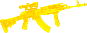 Gold machine gun