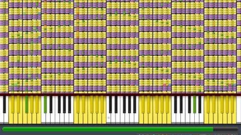 "Black MIDI Synthesia - ""What does the Fox Say?"" 1.1 Million Notes - The Fox - Ylvis ~ Gingeas"