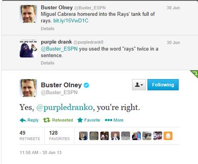 Buster olney trolling