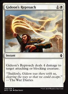 Gideon's Reproach BFZ