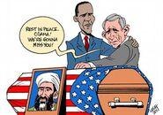 Obama and Bush at Osama's casket