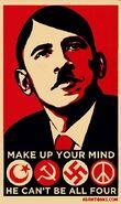 Obama terrorist, Soviet, Nazi and hippie lol