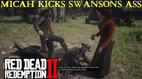Red Dead Redemption 2 (free roam) Gicov picking on Reverend Swanson