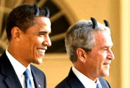 Obama and Bush satanic