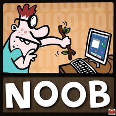 Noob at his computer
