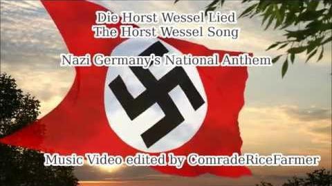 Horst Wessel Lied - Nazi Germany Third Reich National Anthem (English lyrics)