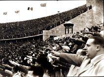 Nazi crowd salute