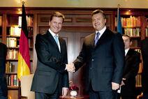 German Foreign Minister Welcomes Ukrainian President Yanukovych