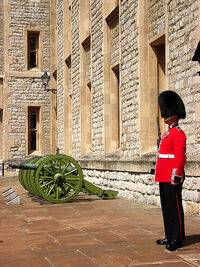 Jewel House guard in the Tower of London