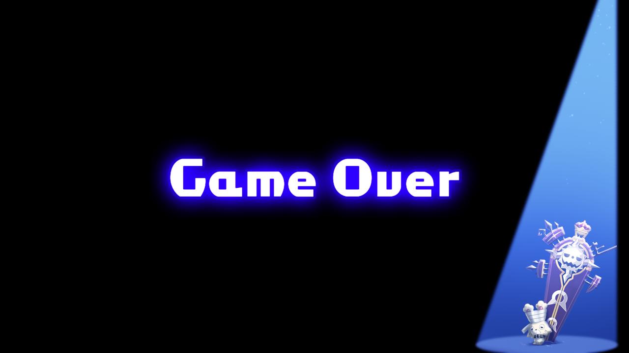 Mugen Souls Z Game Over Screen