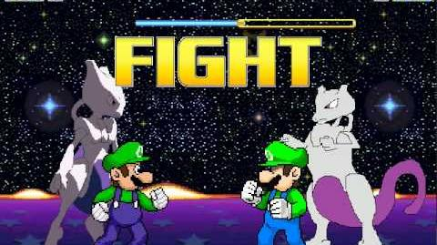Mugen Luigi and Mewtwo vs Not Luigi and DEFINITELY NOT MEWTWO