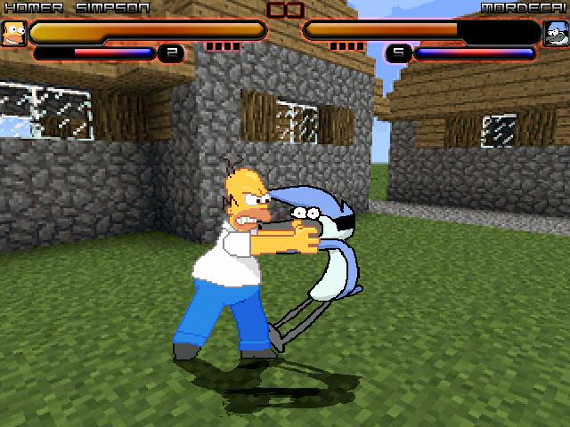 Homer vs Mordecai