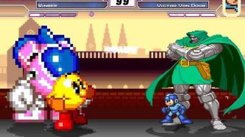 MUGEN pac-man y winbee vs megaman y victor von doom