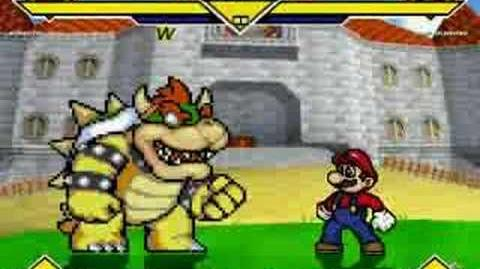 MUGEN - Bowser Vs Super Mario At Peach's Castle
