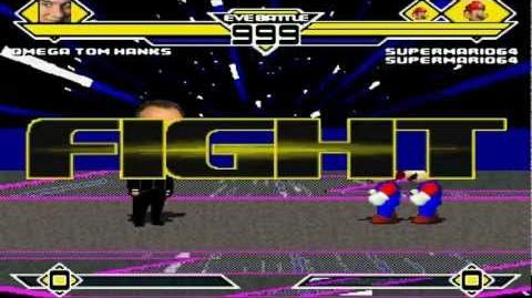Omega Tom Hanks vs Super Mario 64 2X MUGEN Battle!!!