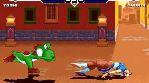 Testing the new yoshi for mugen