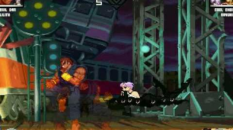 MUGEN Battles 2 - Evil Dan (friend) & Lilith (me) Survival (Part 1)