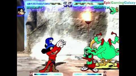Marvin the Martian VS Sorcerer Mickey Mouse In A Saturday Mornin' Mayhem MUGEN Edition Match
