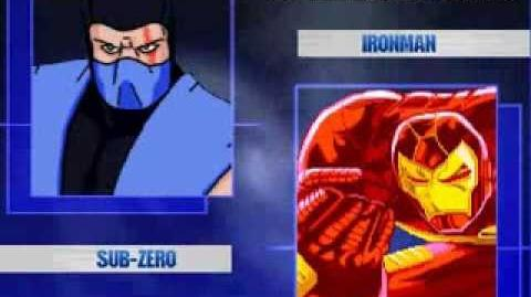 Mugen Battle 5 Sub Zero and Scorpion vs Ironman and Warmachine