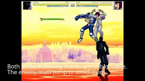 MUGEN Shadow Diavolo by amarimono demonstration