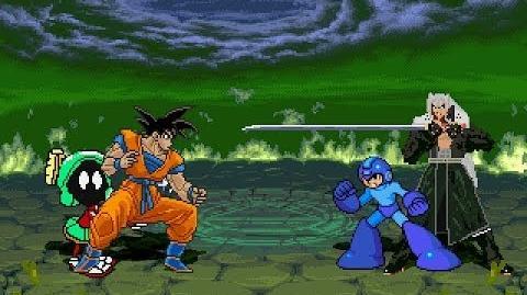 Son Goku & Marvin vs Megaman & Sephiroth MUGEN Battle!!!