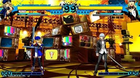 Blazblue vs Persona 4 Arena - Noel Vermillion vs Yu Narukami