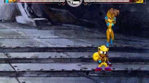 MUGEN Sonic Squirrels - Sally Acorn vs Ray