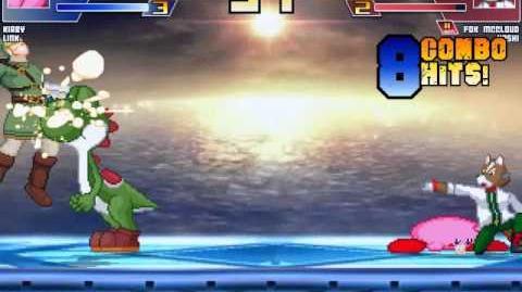 Random Mugen Battle- Link & Kirby vs