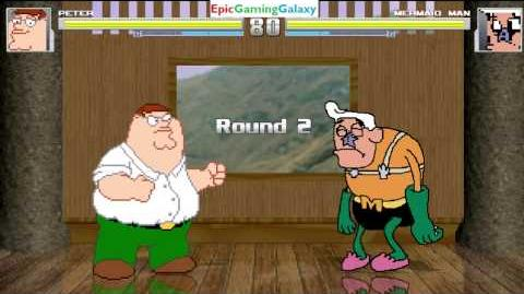 Peter Griffin VS Mermaid Man From The SpongeBob SquarePants Series In A MUGEN Match Battle Fight