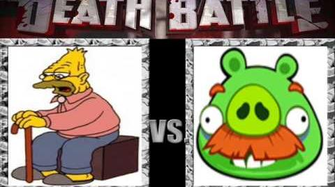 AngryMugenBirds/Big Red Vote: Grampa Abraham Simpson II vs Moustace Pig