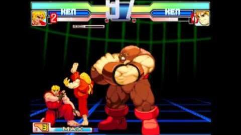 MUGEN SF3 Ken (Me) vs MvC3 Ken (CPU Level 8) Finale