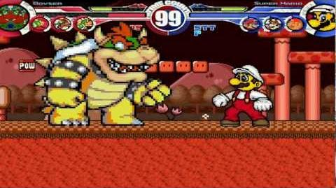 4 Bowser's vs 4 Mario's MUGEN Battle!!!