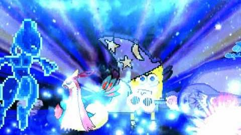 Lucario and Mewtwo vs Milotic and Spongebob