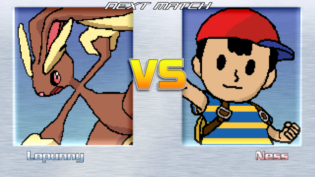 Lopunny vs. Ness minus everything to do with fighting