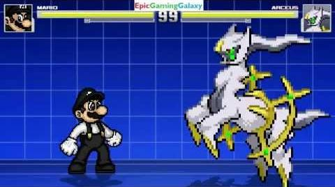 Mario VS Arceus The God Of The Pokemon Universe In A MUGEN Match Battle Fight