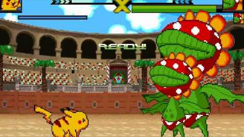Pikachu VS Petey Piranha and his new friends