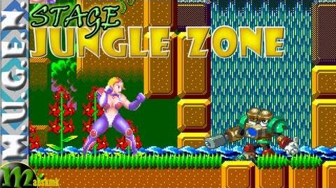 Mugen Sonic - Jungle Zone - Anne vs Search man