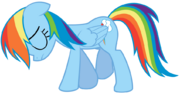 Slimeytoady-Sad Rainbow Dash Walking Vector