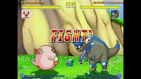 Chansey VS Rampardos In A Cartoon VS Anime MUGEN Match Battle Fight