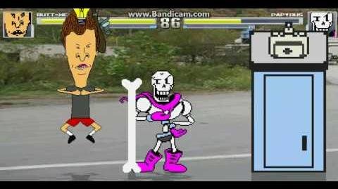 Papyrus vs Butthead - MUGEN BATTLE 01