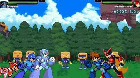 Mugen Battle Megaman X & Megaman vs Megaman Volnutt & Megaman Zero